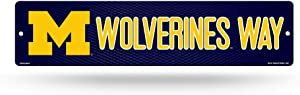 NCAA Michigan Wolverines 16-Inch Plastic Street Sign Décor