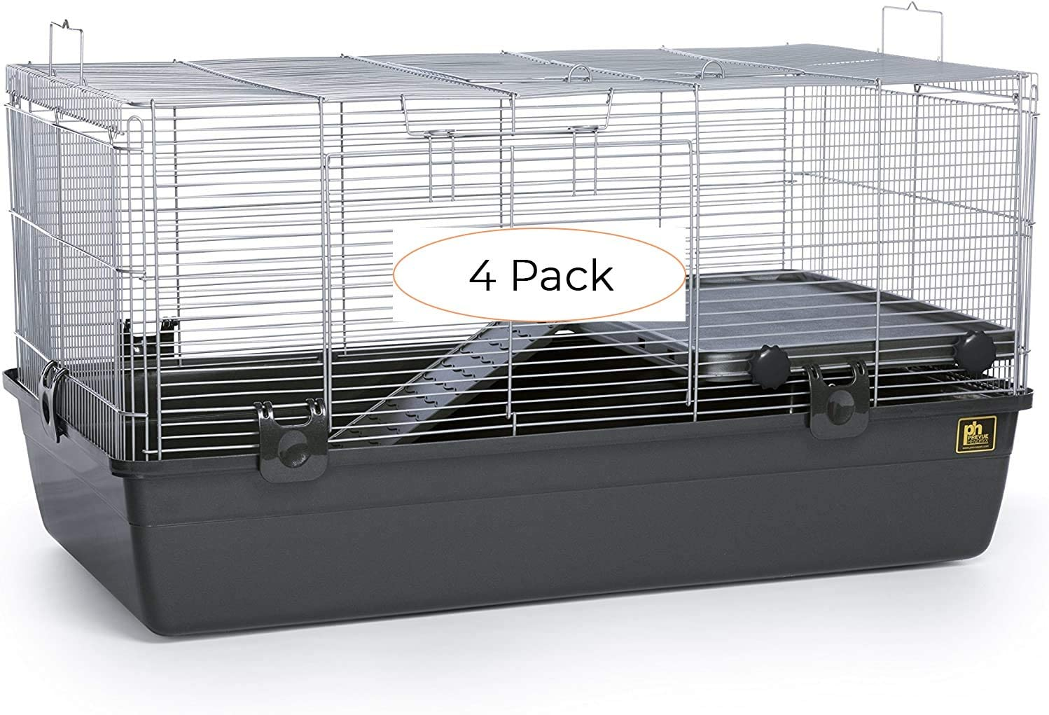 Prevue Pet Products 528 Universal Small Animal Home, Dark Gray (Four Расk)