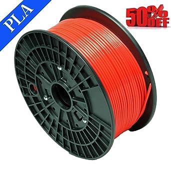 Abcs Printing de rojo filamento PLA 1.75 mm 3d filamento PLA, peso ...