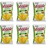 Sensible Portions Garden Veggie Straws Sea Salt, 16.0 Ounce (Pack of 6)