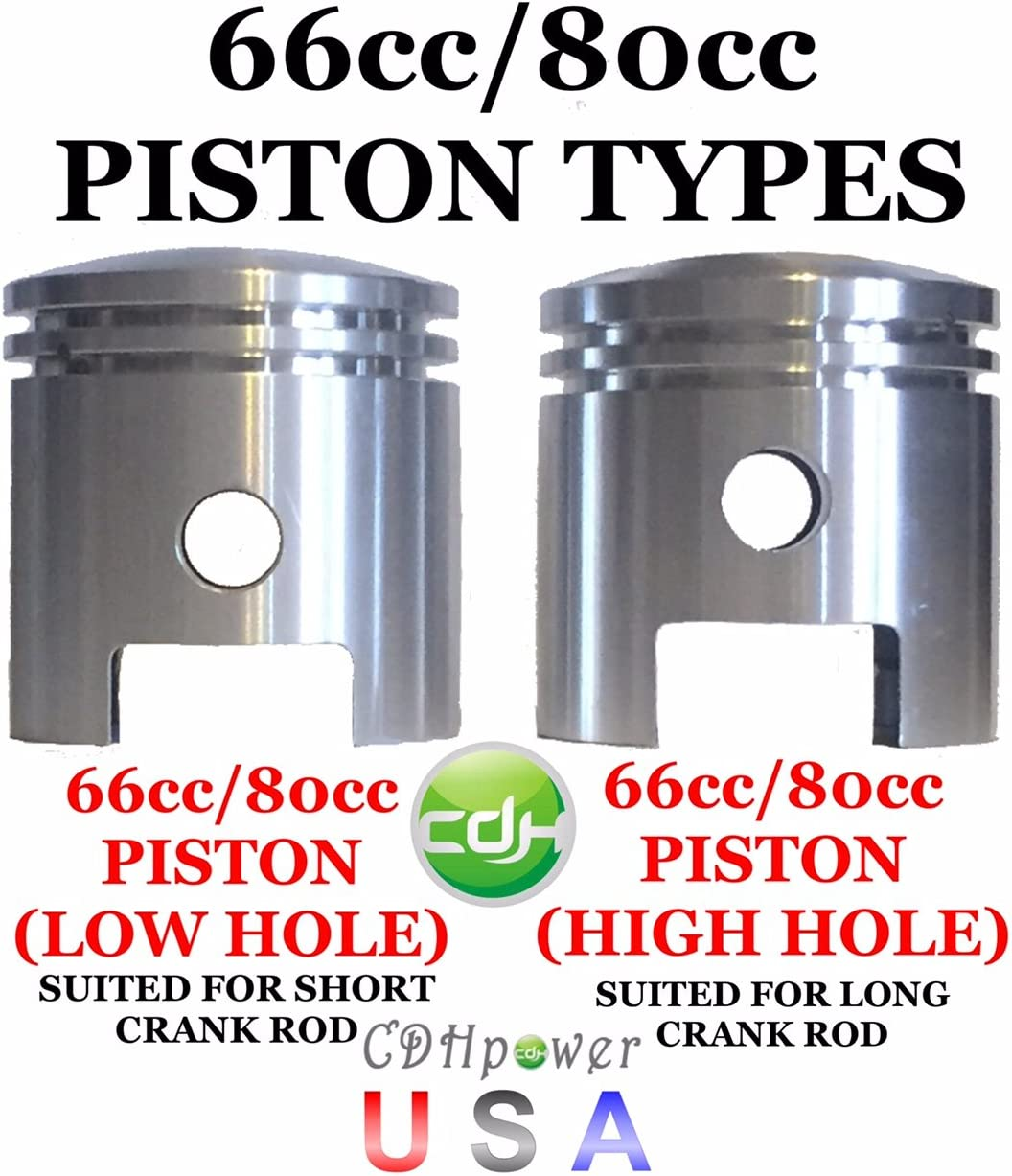 80cc//66cc Gas Motorized Bicycle CDHPOWER 2 Stroke Gas Engine Motor Kit Piston Set of 66cc//80cc for Short Connecting Rod Crank Assemblies ONLY