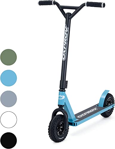Osprey Dirt Scooter with Off Road All Terrain Pneumatic Trail Tires – Sky Blue – Offroad Scooter for Adults or Kids