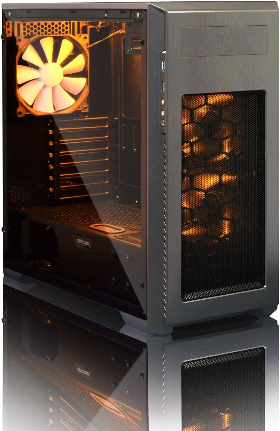 Phanteks Enthoo Pro M Ventana de acrílico edición Gaming PC Caso – Gunmetal Gris – con LED Kit Naranja: Amazon.es: Informática