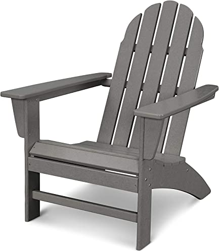 POLYWOOD Vineyard Adirondack Chair Slate Grey