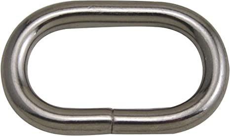 Generic Metal Bronze Oval Shape Buckle 1.25 X 0.6 Inside Dimensions for Belt Handbag Strap Keeper Accessories Pack of 15