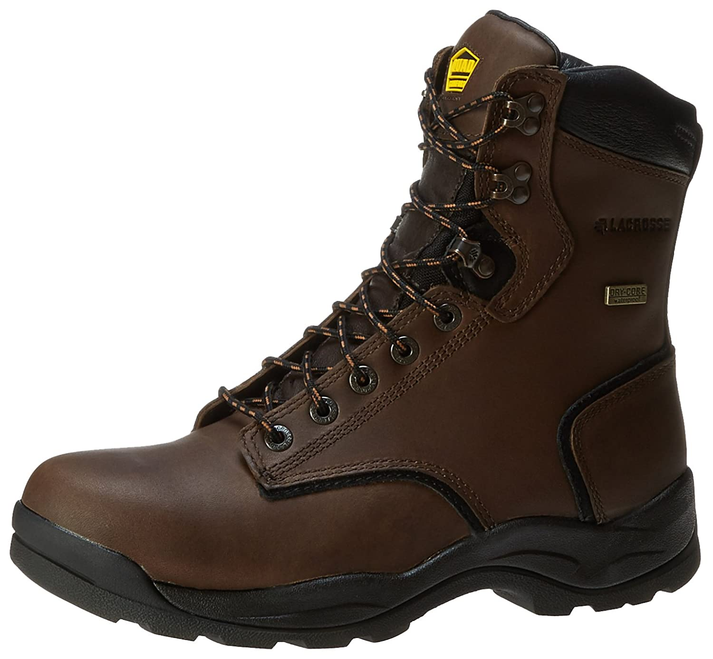 Men's Lacrosse 8 inch Quad Comfort 4x8 Boots Dark Brown