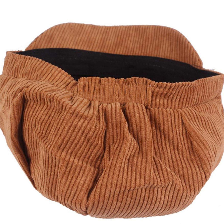 Corduroy Cap Women Newsboy Octagonal Cap Vintage British Spring Solid Painter Eight Panel Beret hat