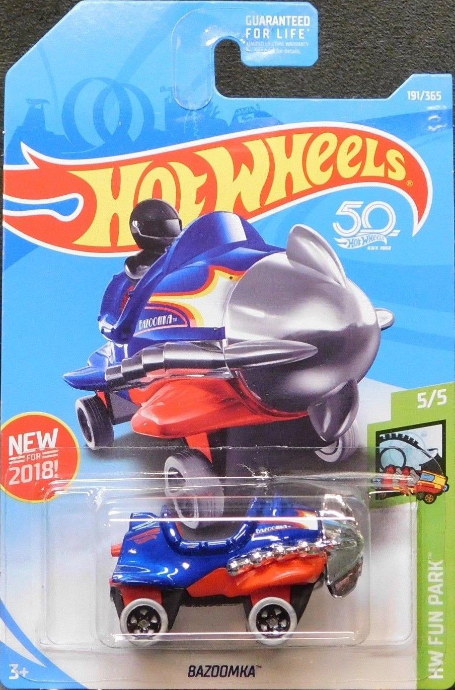 Bazoomka Mattel Blue 2018 Hot Wheels Hw Fun Park 5//5