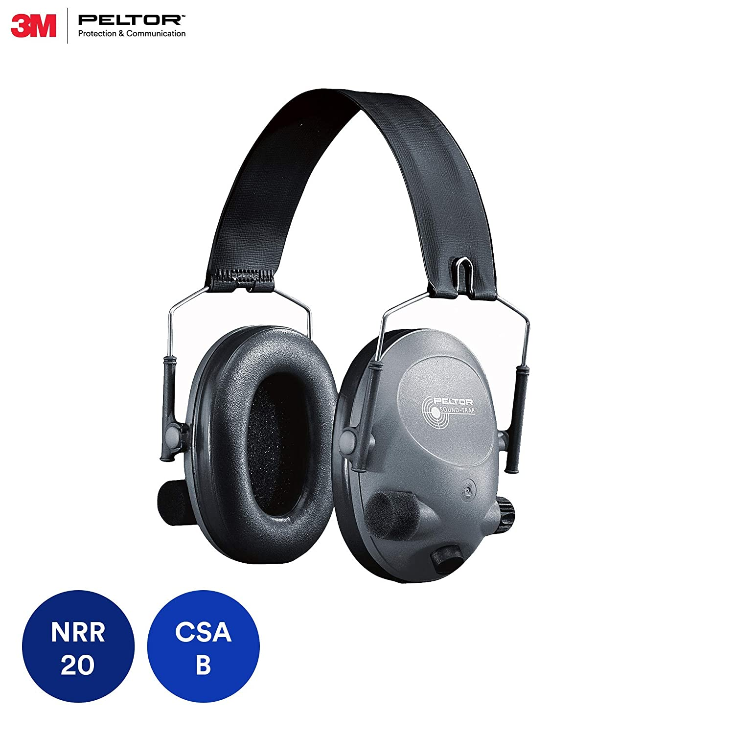 3M Peltor Tactical 6-S Slim Line Electronic Headset, Hearing Protection, Gray, Ear Protection, NRR 19 dB, Great for hunters and shooters