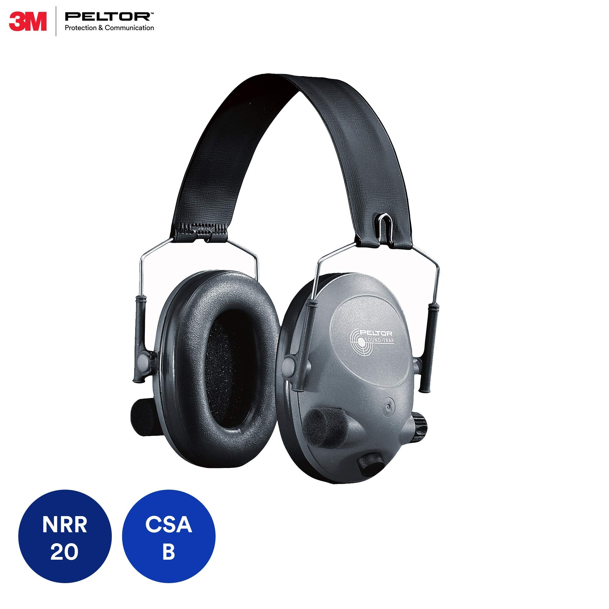 3M Peltor Tactical 6-S Slim Line Electronic Headset, Hearing Protection, Gray, Ear Protection, NRR 19 dB, Great for hunters and shooters by 3M