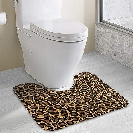 Amazon Com Cheetah Print Bathroom Rug U Shaped Bathroom Floor Rug