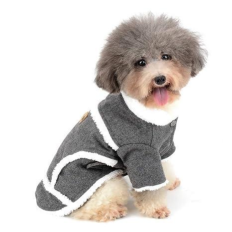 Zunea - Chaqueta de Estilo Europeo para Perro pequeño, Abrigo de Invierno cálido, Forro