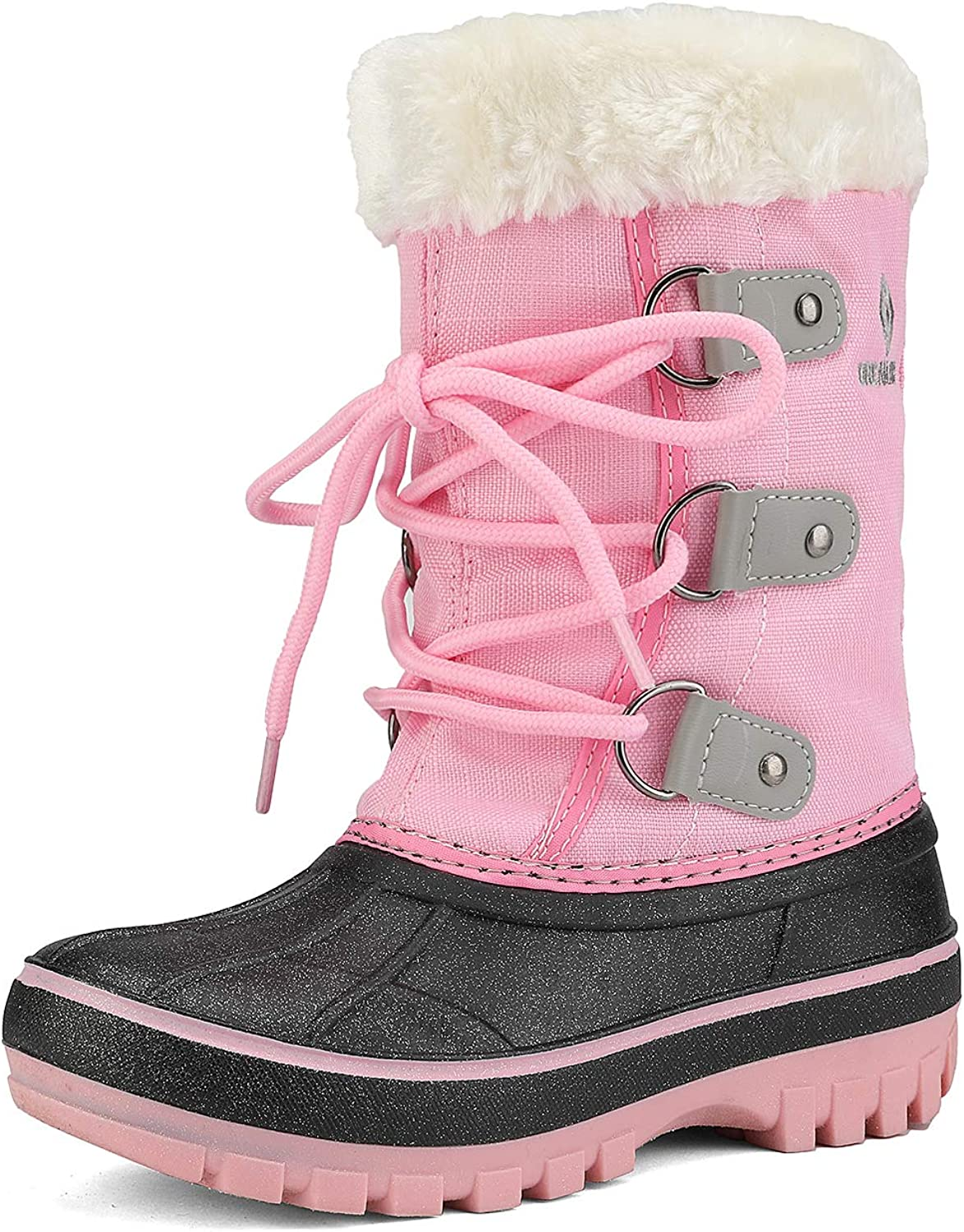 DREAM PAIRS Boys /& Girls Toddler//Little Kid//Big Kid Faux Fur-Lined Winter Snow Boots