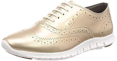 9194243c217eec Cole Haan Women s Zerogrand Wingtip Oxford 6 Gold Metallic