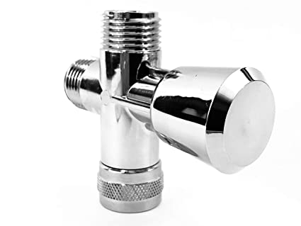3 Way Shower Head Diverter Control Valve Hand Held Shower Wand