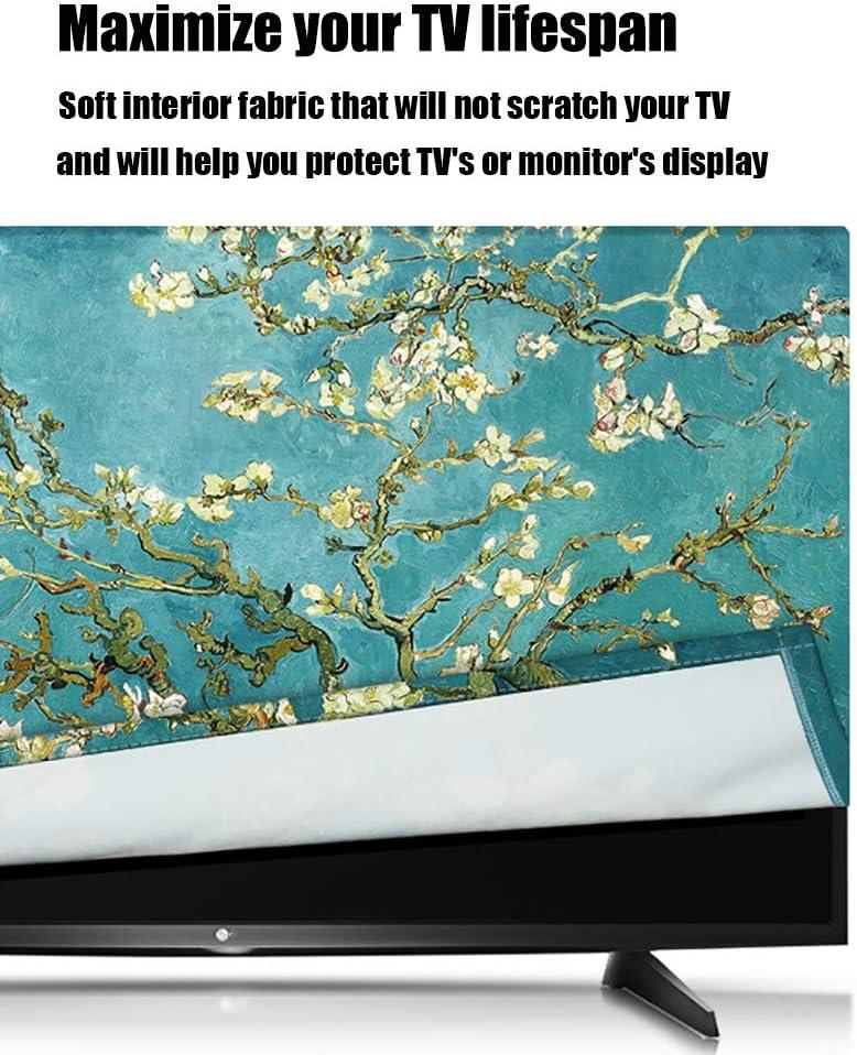 KOIOK - Funda para televisor de Alta definición con impresión Giclée, Tela de poliéster Que Cubre la Pantalla, decoración del hogar y la Oficina: Amazon.es: Electrónica