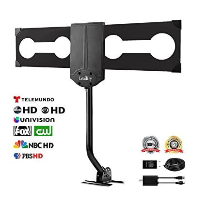 LeadTry ANT-OTD09 Outdoor TV Antenna 150+ Mile Reception Rang with Signal Booster  sc 1 st  Amazon.com & Amazon.com: LeadTry ANT-OTD09 Outdoor TV Antenna 150+ Mile ...