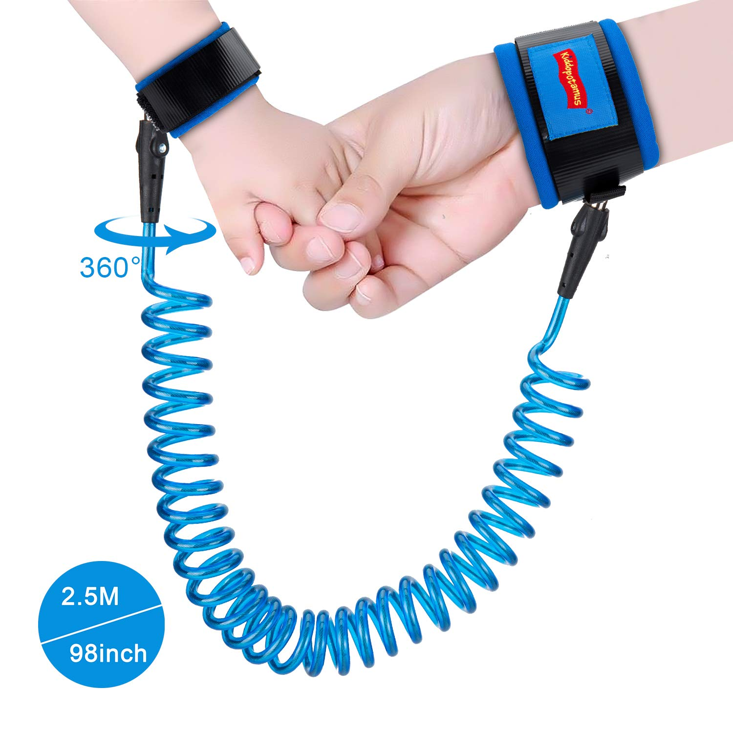 Anti Lost Wrist Link, 360 Degree Rotating Connectors,Outdoor Safety Harness for Children, Kids Twins' Dad