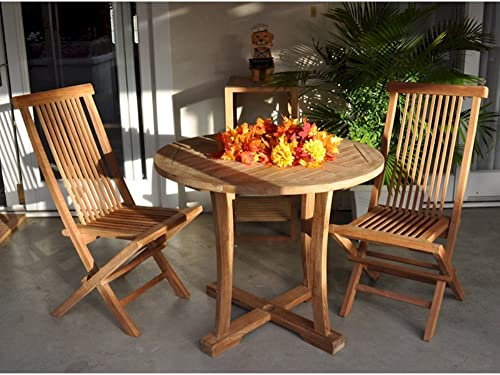 Anderson Teak SET-208 Bristol 3 Piece Outdoor Dining Set