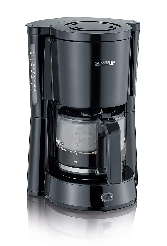 Severin KA 4817 Filter-Kaffeemaschine Rotmetallic-Schwarz bis 10 Tassen  1000 W