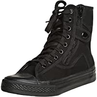 Odema Mens Canvas Shoes Hightop Sneakers Flat Ankle Boot Lace up Shoes
