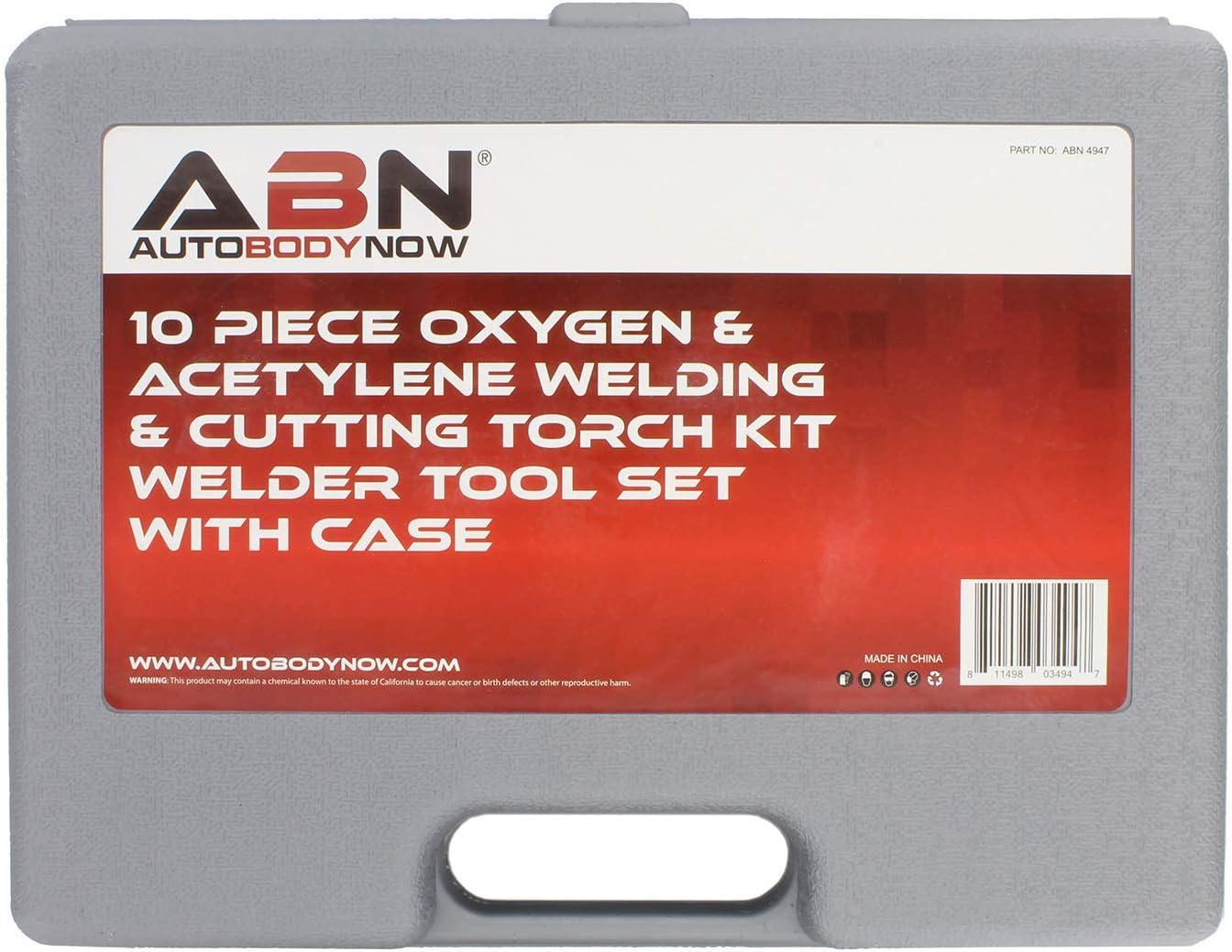 10 Pc Welding Kit Metal Cutting Torch Kit ABN/® Oxygen /& Acetylene Torch Kit Portable Cutting Torch Set Welder Tools