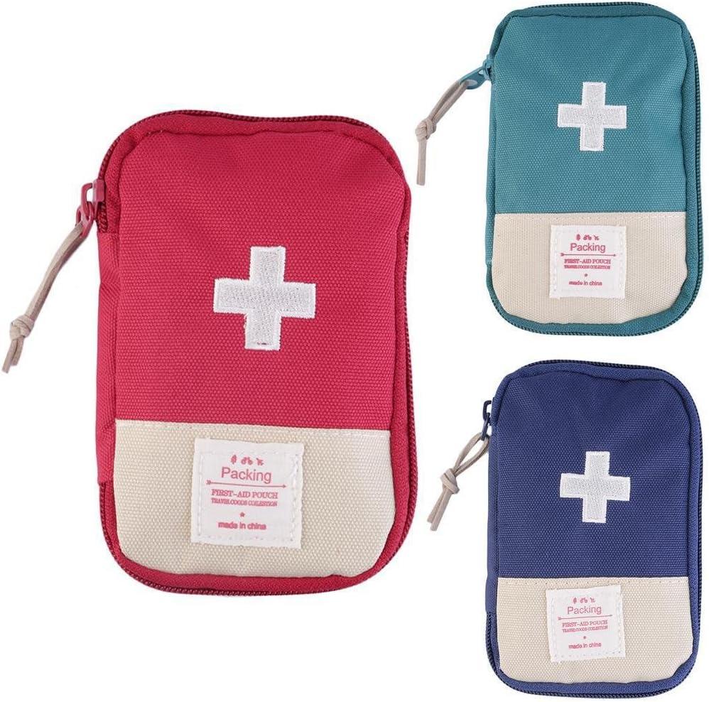 oobest Medicina píldora portátil al Aire Libre Organizador Emergency First Medical Aid Kit de Supervivencia Bolsa de Viaje