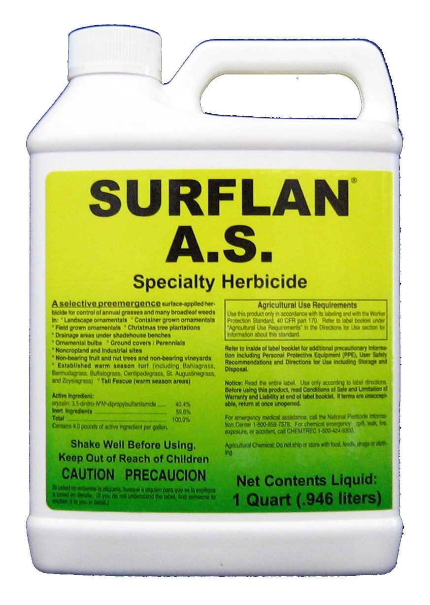 Southern Ag Surflan A.S. Specialty Herbicide Pre-Emergent Herbicide with Oryzalin, 32oz – 1 Quart