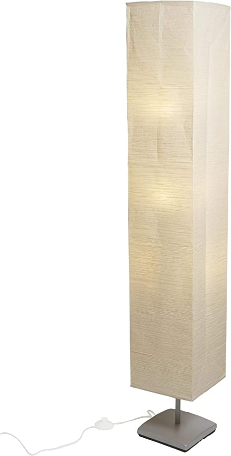 Asian Inspired Living Room Decor Floor Lamp With Rice Paper Shade