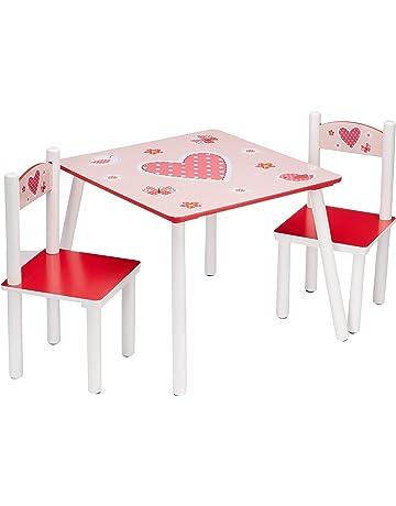 IKAYAA Carino in Legno Bambini Tavolo Pino Piazza Toddler Bambini Attivit/à Tavolo in Legno Massello per Imparare Giocando