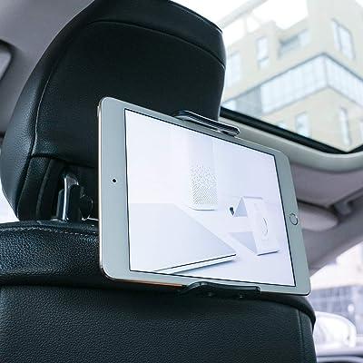 """Soporte Tablet Coche, Lamicall Soporte Tablet para Reposacabezas : Soporte Base Ajustable para 4""""~11"""" Tablets para Pad 2018 Pro 9.7, 10.5, Air Mini 1 2 3 4, Samsung Tab, Phone, Otras Tablets - Negro"""