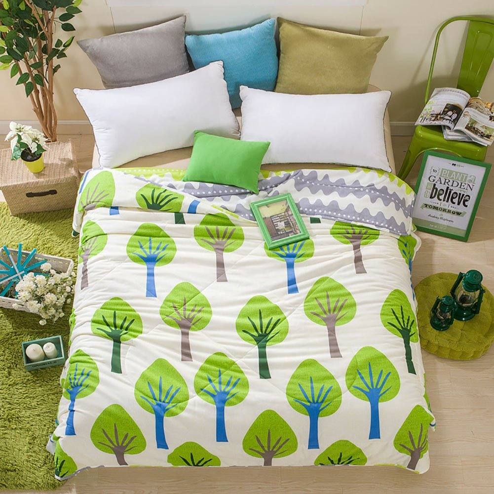Home Comfortable 100% Cotton Comforter for Summer Air-Conditioning Quilt 1PC