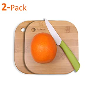 Home Mini Cutting Board Small Fruit Cutting Board Solid Bamboo Wood Board For Baby infant dormitoryISet of 2