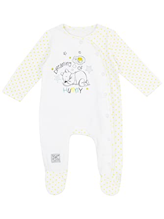 960c998b2 Disney Winnie The Pooh Baby Unisex Winnie The Pooh Sleepsuit Age 6 to 9  Months: Amazon.co.uk: Clothing