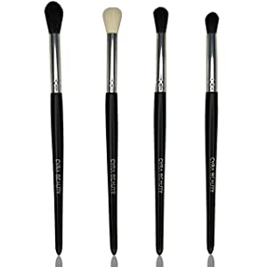 Cyra 4-Piece Synthetic Eye Shadow Blending Brush Set – Eye Shadow Blending and Shading Kit