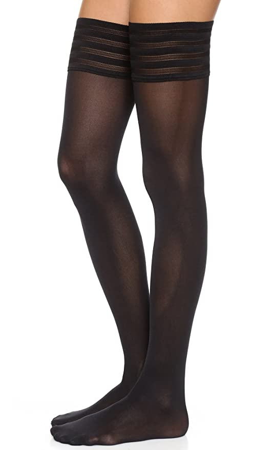 1920s Stockings, Tights, Nylons History Wolford Womens Velvet De Luxe 50 Stay Up Tights $61.00 AT vintagedancer.com