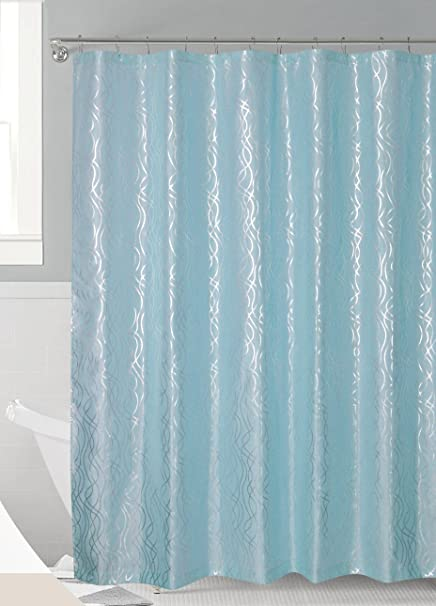 Luxurious Metalic Moroccan Trellis Shower Curtain Set With 12 Hooks 72quotx72quot
