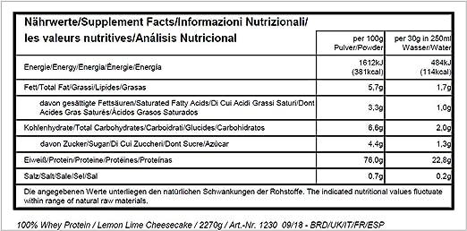 All Stars 100% Whey Protein Lemon Lime Cheesecake - 2270 gr: Amazon ...