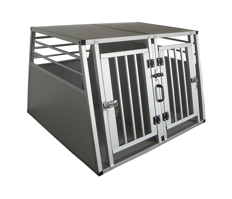 Cool Runners Pro Series Secure Aluminum Double Door Dividable Dog Pet Travel Car Crate