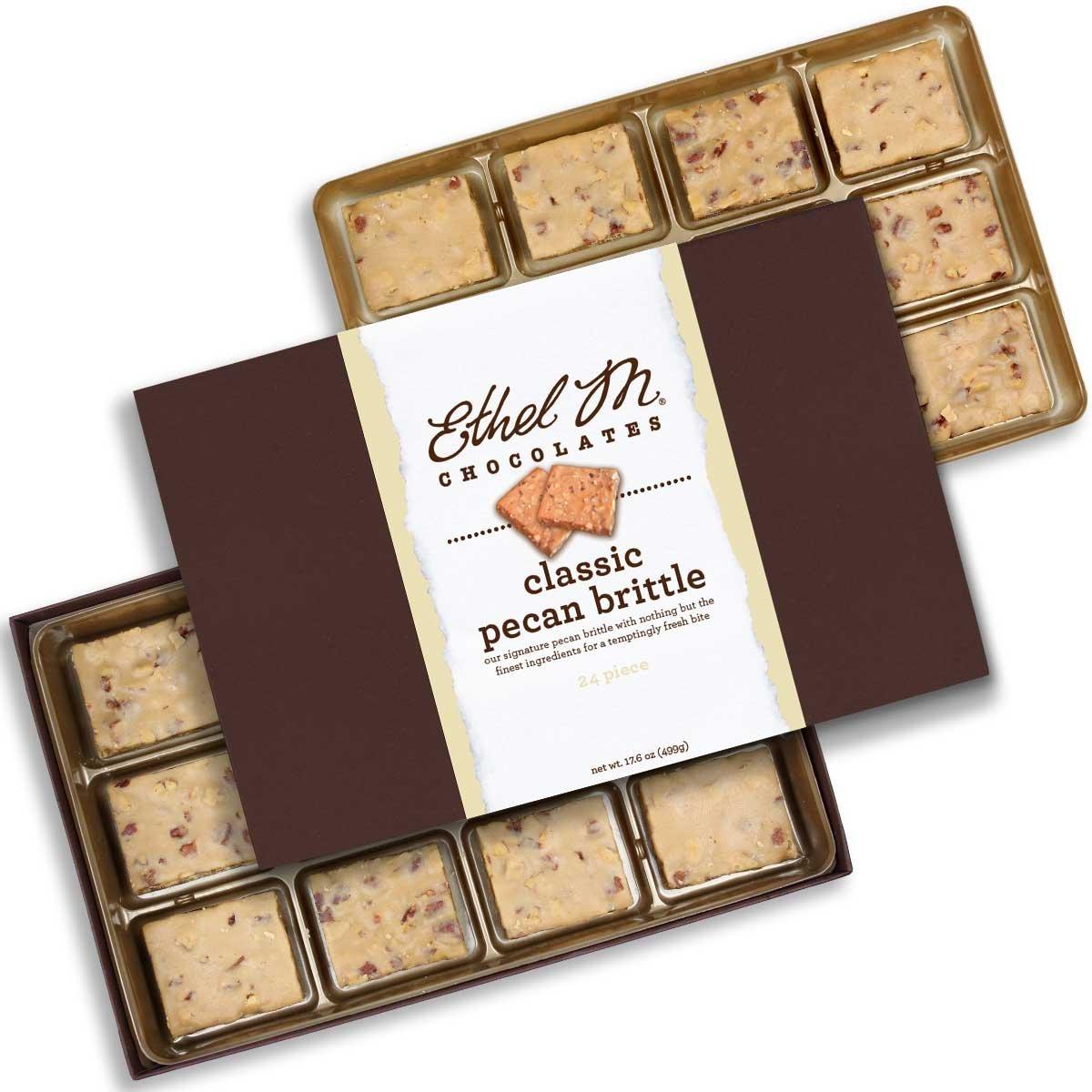 Ethel M Chocolates Classic Pecan Brittle 24 piece