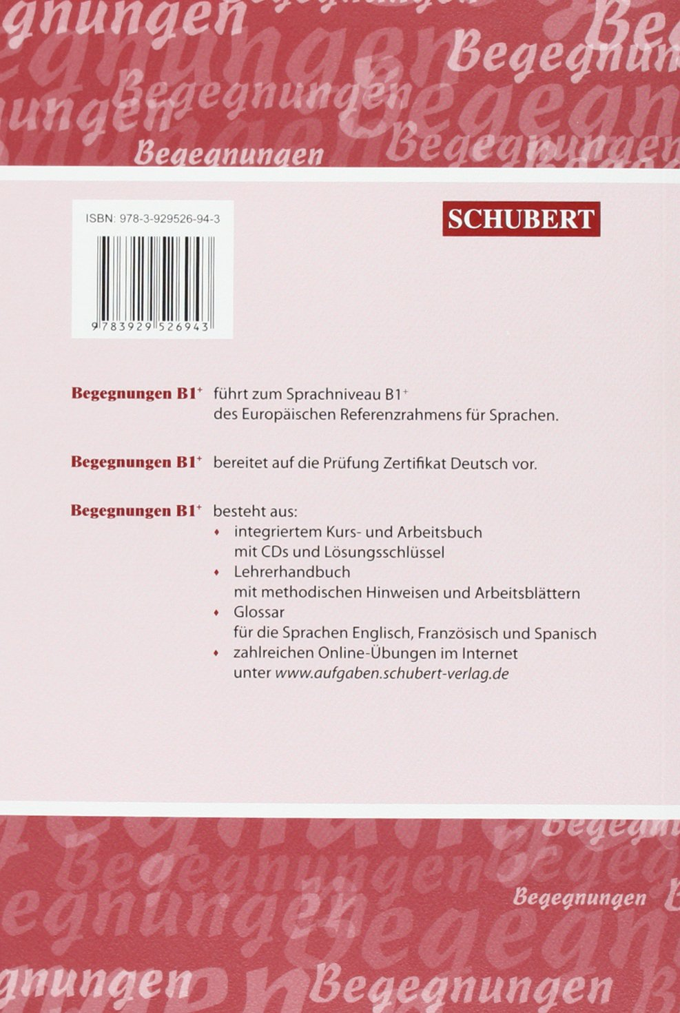 Begegnungen: Glossar B1+ (German Edition): Szilvia Szita ...