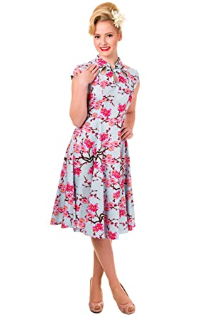 Banned Last Dance Cherry Blossom Vintage Dress - UK 10 / US 6 / EU 36