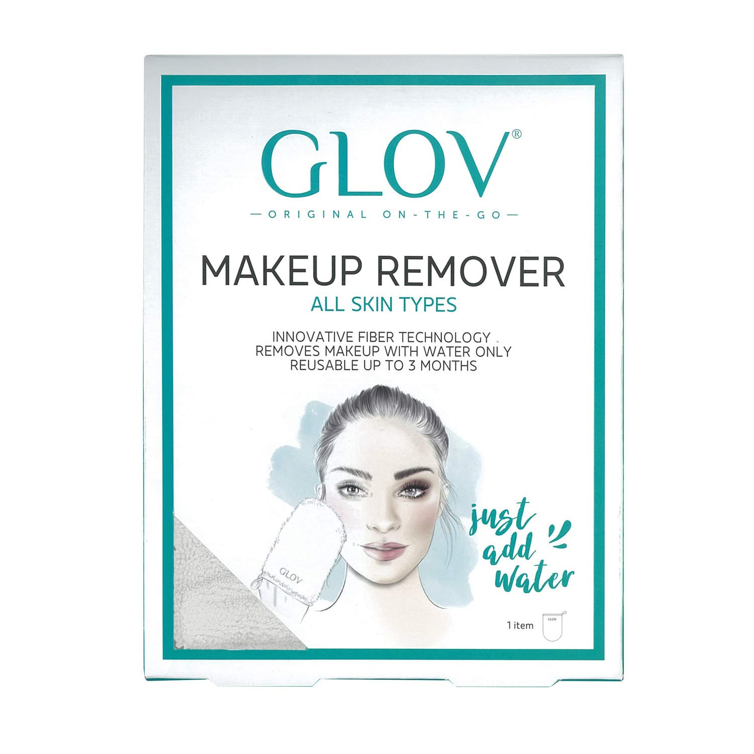 GLOV Reusable make up Face Wipes, Reusable Make Up Remover Pads, Cheeky Wipes Make Up Remover, Natural Microfibre Cleaning Cloth Easy to Wash, Exfoliate your Skin simply with Water Phenicoptere Sp. z o.o.
