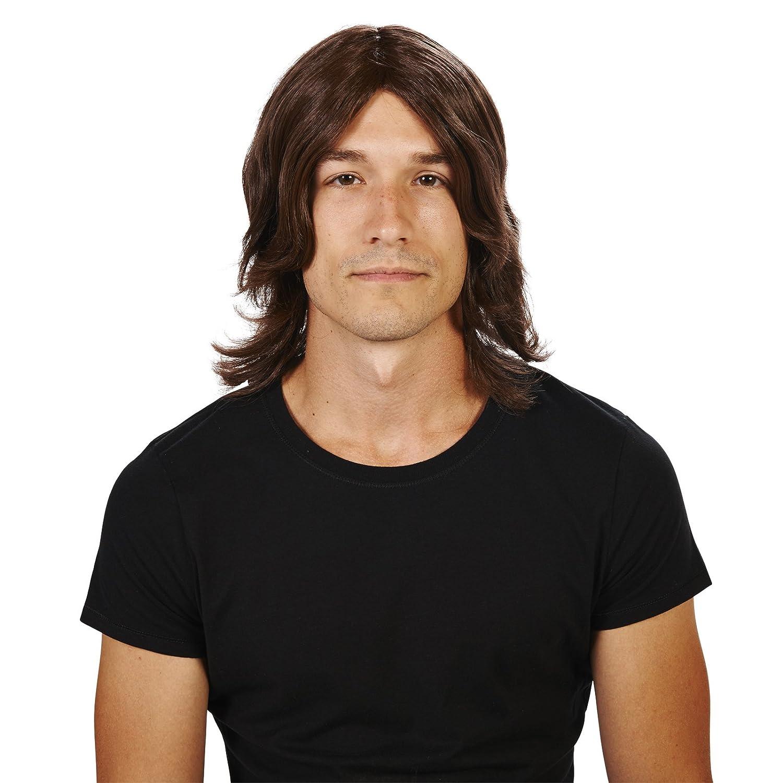 Brown Surfer Adult Wig