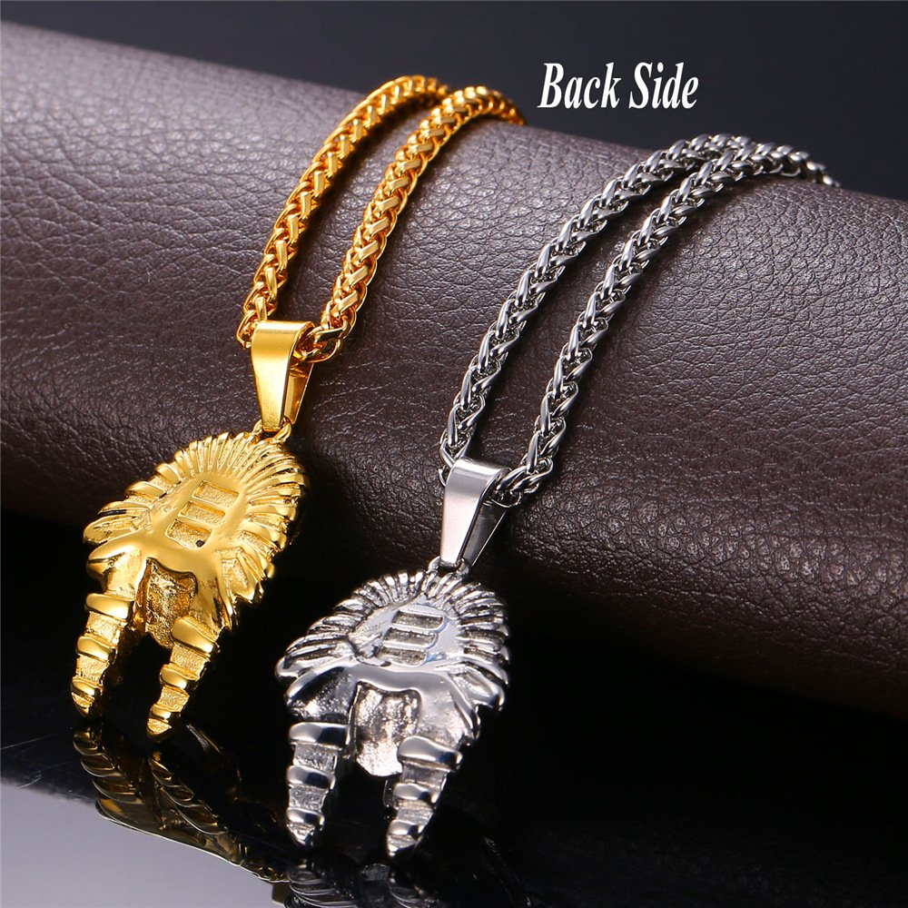 Metal Color: Gold-Color Davitu U7 Ancient Egypt Charm Necklace Pharaoh King Gold Color Stainless Steel Necklaces /& Pendants Vintage Jewelry for Men//Women P766
