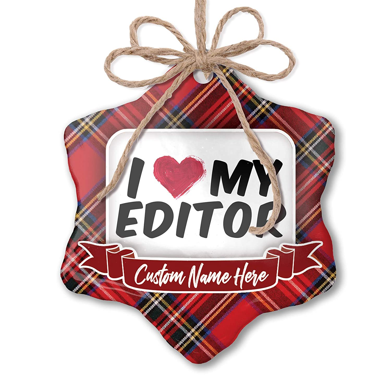 Amazon com: NEONBLOND Customizable Ornament I Heart Love My