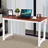 Love+Grace Computer Desk PC Laptop Table Wood Work-Station Study Home Office Furniture, Coffee
