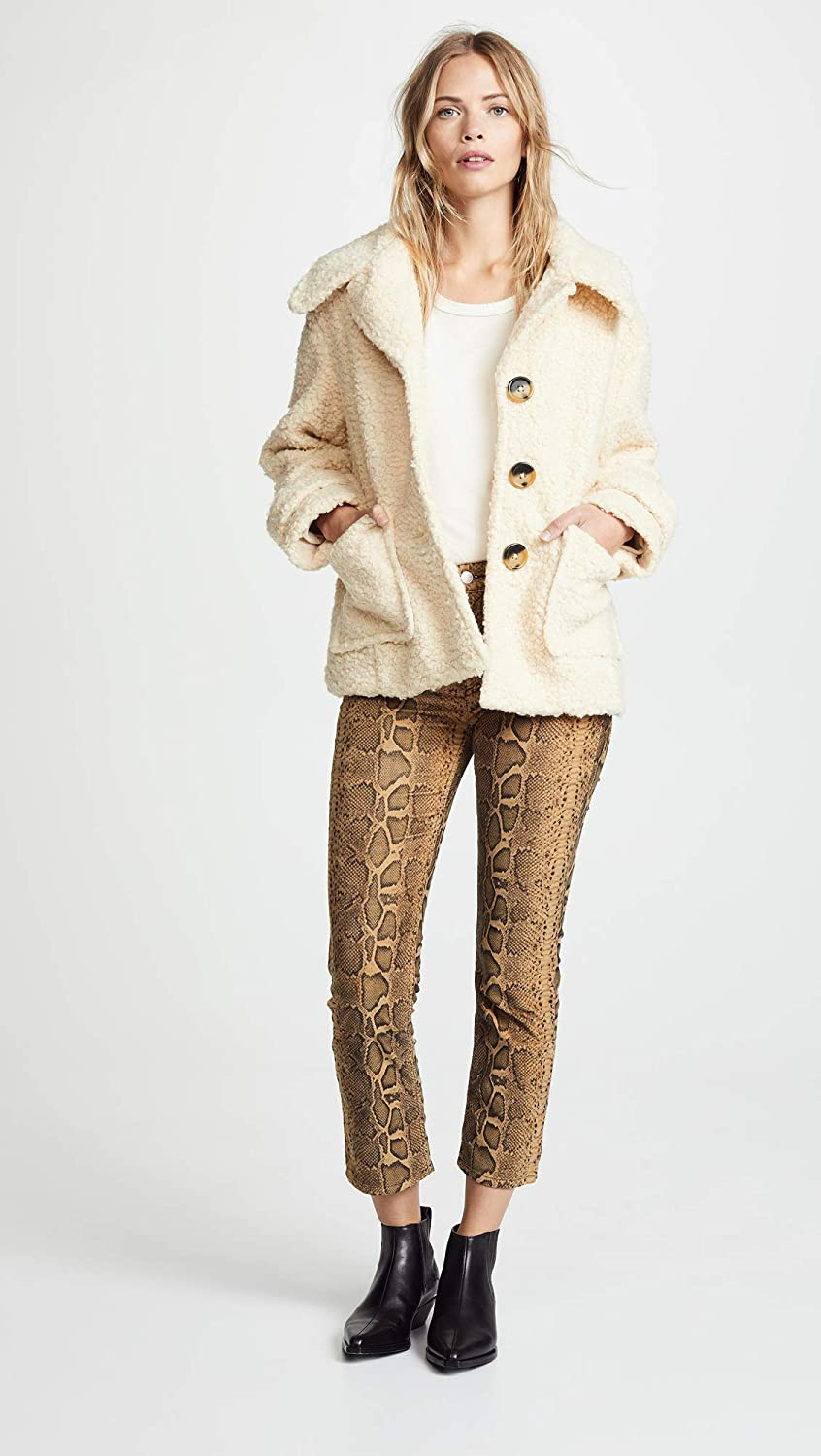 Free People Womens So Soft Cozy Peacoat