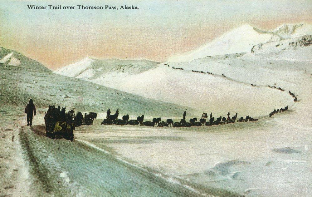 アラスカ – 冬のビューTrail Climbers 36 x 54 Giclee Print LANT-13596-36x54 36 x 54 Giclee Print  B01MG35GF2