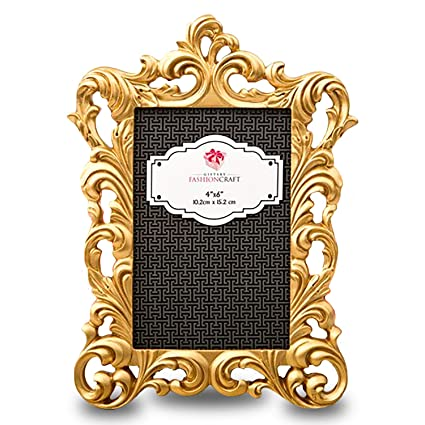 amazon com baroque gold metallic frame from gifts by fashioncraft